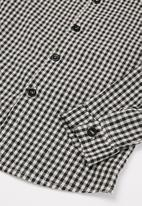 POP CANDY - Boys check shirt - black & white