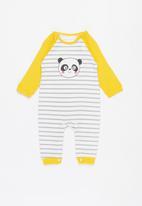 POP CANDY - Panda romper - white/yellow