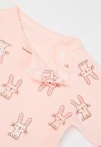 POP CANDY - Baby girls printed romper - light pink