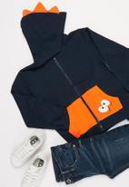 POP CANDY - Boys character hoodie - navy & orange