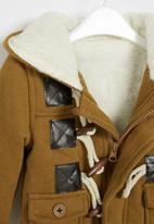 POP CANDY - Boys hooded coat - brown
