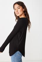 Cotton On - Karly long sleeve top - black