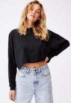 Cotton On - Kyle batwing long sleeve top - black