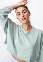 Cotton On - Kyle batwing long sleeve top - washed lush green