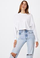 Cotton On - Kyle batwing long sleeve top - white