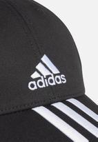 adidas Performance - Baseball three stripes cap - black & white
