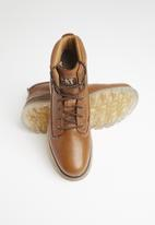 Caterpillar - Baseplate leather - brown