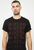 G-Star RAW - Embro gradient graphic lash r short sleeve tee - black