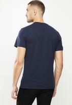 G-Star RAW - Originals stripe logo r short sleeve tee - navy