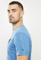 Replay - Replay logo tee - blue