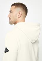 Replay - Replay label print hoodie - white