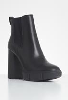 Steve Madden - Revised leather ankle boot - black