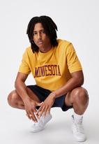 Factorie - Regular graphic T-shirt - yellow