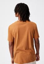 Factorie - Regular graphic T-shirt - washed tobacco