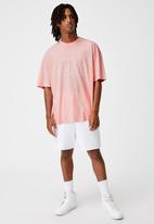 Factorie - Relaxed washed T-shirt - washed soft pink