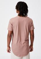 Factorie - Curved T-shirt - dried rose