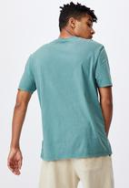 Factorie - Relaxed washed T-shirt - washed pine teal