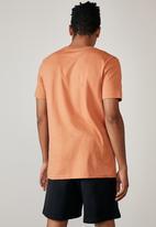Factorie - Slim T-shirt - faded orange