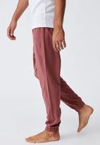 Cotton On - Organic jersey sleep pant - oxblood