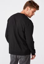 Cotton On - Essential crew fleece - black