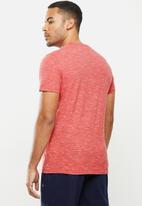 Superdry. - Ol vintage embroidery crew tee - maldives pink