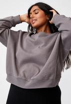 Cotton On - Curve classic crew neck pullover - ash grey