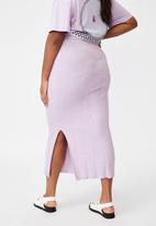 Cotton On - Curve knit midi skirt - lilac