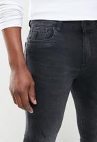 POLO - Mens pjc renzo faded black skinny leg - black wash