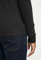 Superdry. - VI infill long sleeve top - black