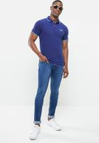 Superdry. - Poolside pique short sleeve polo - navy
