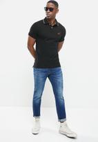Superdry. - Poolside pique short sleeve polo - black