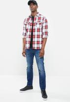 Superdry. - Classic lumberjack shirt - red