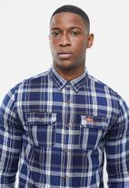Superdry. - Classic lumberjack shirt - navy