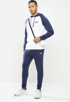 Hi-Tec - Retro hoody - white & navy