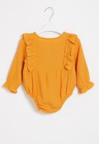 POP CANDY - Baby girls styled babygrow - orange