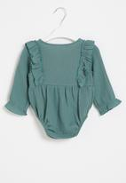 POP CANDY - Baby girls styled babygrow - green