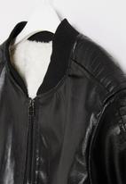 POP CANDY - Boys faux leather jacket - black