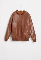 POP CANDY - Boys faux leather jacket - tan