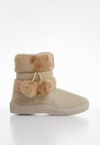 POP CANDY - Girls pom pom boot - beige