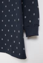 POP CANDY - Frill fleece dress - navy