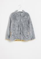 POP CANDY - Fuzzy jacket - grey mel