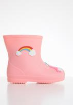 POP CANDY - Girls rainbow rainboots - light pink