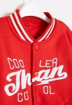 POP CANDY - Boys cool baseball jacket - red