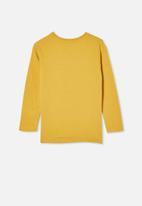 Cotton On - Penelope long sleeve tee - yellow