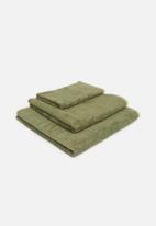 Linen House - Nara bamboo cotton towel - moss