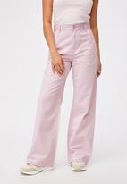 Cotton On - Parker long straight pant - soft orchid