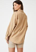 Cotton On - Preppy shirt - caramel brown