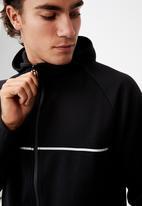 Cotton On - Active tech zip thru hood - black