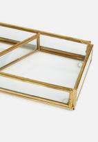 Sixth Floor - Mia rectangular storage tray - gold