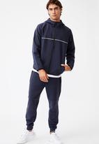 Cotton On - Active tech zip thru hood - navy